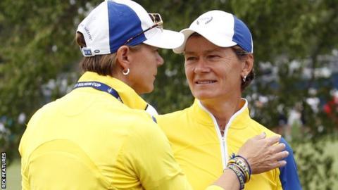 European captain Aneka Sorenstam and vice-captain Catriona Matthew