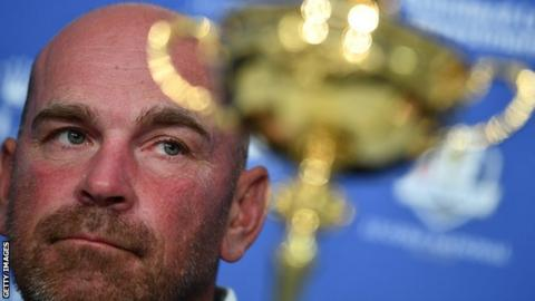 Thomas Bjorn, the captain of Europe's 2018 Ryder Cup team