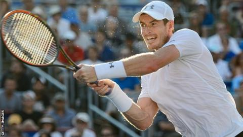 Andy Murray playing in Montreal