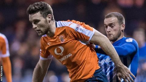 Stephen O'Donnell (left) in action for Luton Town against Hartlepool United