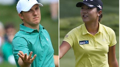 United States golfer Jordan Spieth and South Korea Lydia Ko