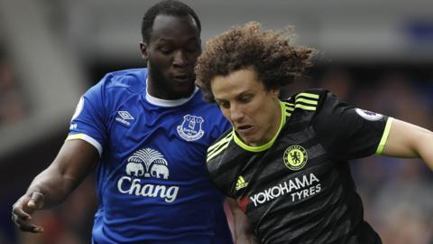 Romelu Lukaku and David Luiz