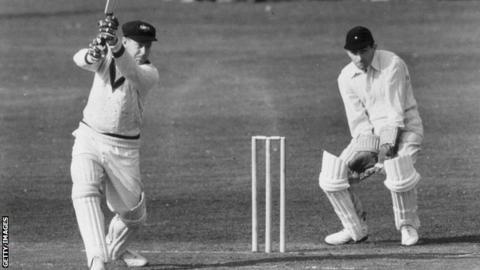 Arthur Morris, batting for Australia