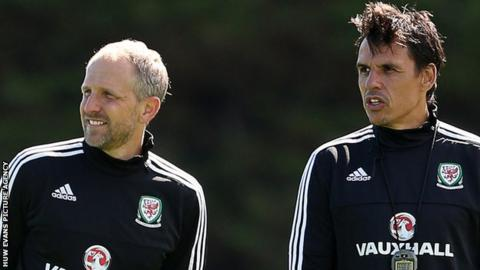 Paul Trollope (left) with Chris Coleman