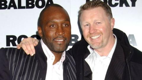 Nigel Benn and Steve Collins