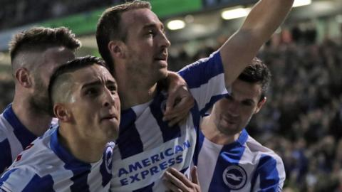 Glenn Murray celebrates goal for Brighton