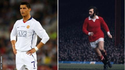 George Best and Cristiano Ronaldo