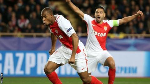 Monaco celebrate against Tottenham