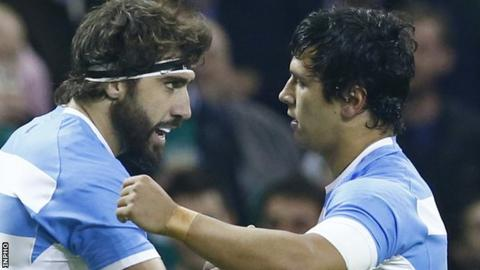 Argentina beat Ireland 43-20 in the 2015 Rugby World Cup
