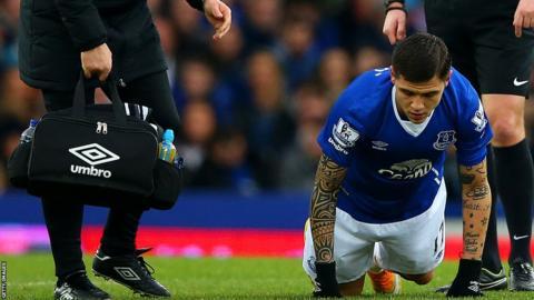 Muhamed Besic of Everton
