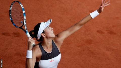 Defending champion Garbine Muguruza upset at French Open