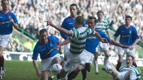 Celtic finished behind Rangers in the league five times during the period in question