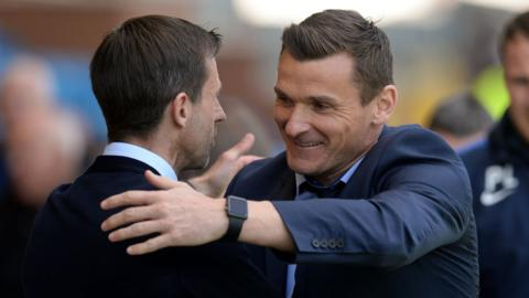 Dundee manager Neil McCann and Kilmarnock counterpart Lee McCulloch