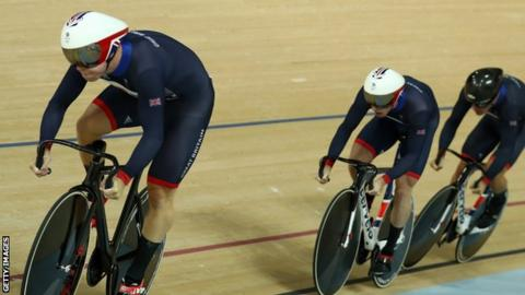 Great Britain win Olympic team sprint gold