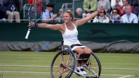 Jordanne celebrating her win