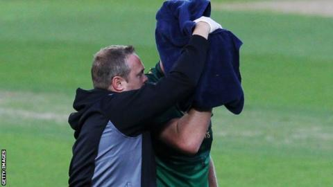 Nottinghamshire's Luke Fletcher set to be discharged from hospital after head injury