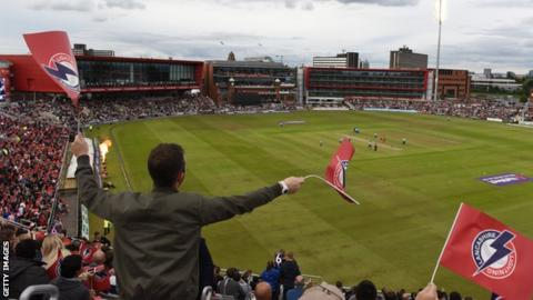 Lancashire fans at Old Trafford