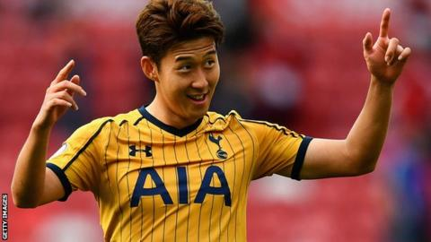Spurs forward Son Heung-min