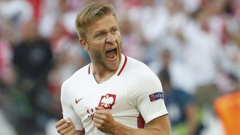 Poland goalscorer Jakub Blaszczykowski