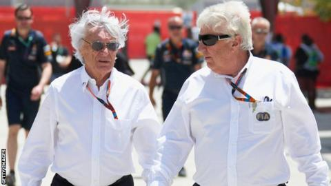 Bernie Ecclestone and Herbie Blash