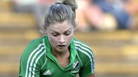 Chloe Watkins scored Ireland's first goal against China