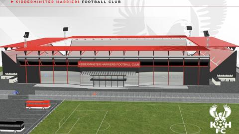Harriers' proposed new home just off the Kidderminster/Stourport road