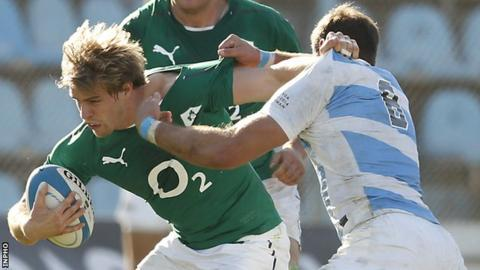 Andrew Trimble during his last Ireland appearance against Argentina in June of last year