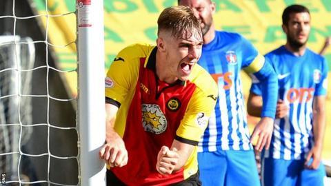 Partick Thistle defender Liam Lindsay celebrates