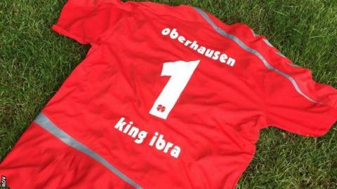 Rot-Weiss Oberhausen shirt with King Ibra on the back