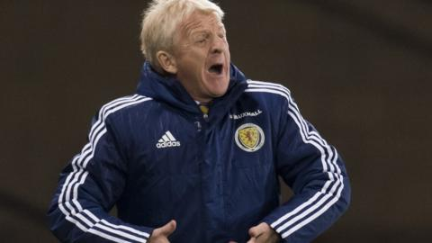 Scotland boss Gordon Strachan shows his frustration