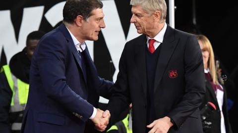 Slaven Bilic and Arsene Wenger