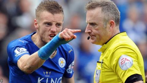 Jamie Vardy and Jonathan Moss