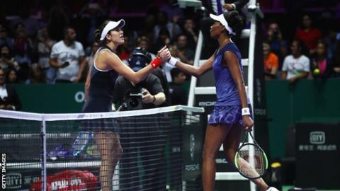 Williams Defeats World No.2 Muguruza To Advance at WTA Finals