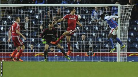 Hope Akpan heads Blackburn's winner