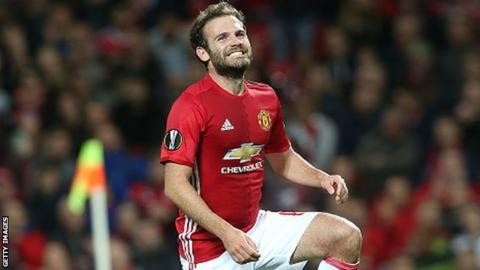 Manchester United and Spain midfielder Juan Mata