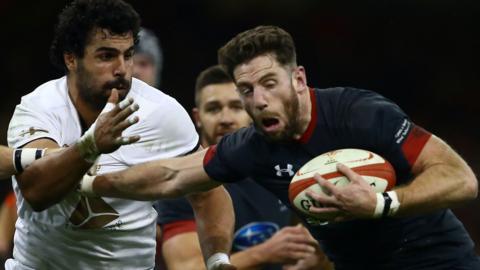 Wales' Alex Cuthbert