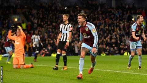Burnley up to seventh with narrow win over Newcastle