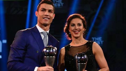Cristiano Ronaldo and Carli Lloyd