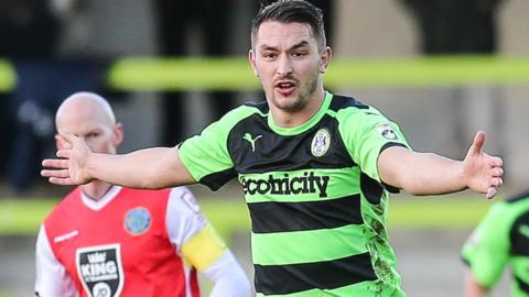 Brett Williams in action for Forest Green Rovers