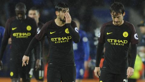 Manchester City lose to Leicester City