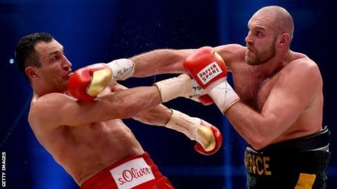 Tyson Fury beats Wladimir Klitschko
