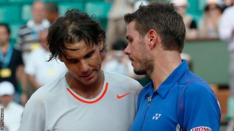 Rafael Nadal and Stan Wawrinka