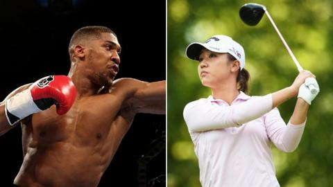 Anthony Joshua & Lydia Ko
