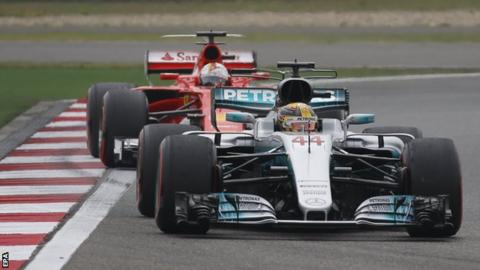 Lewis Hamilton in front after disrupted start to race