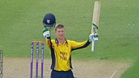 Keaton Jennings' century was his highest score in one-day cricket -and his first for Durham