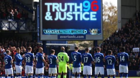 Goodison's emotional Hillsborough tribute