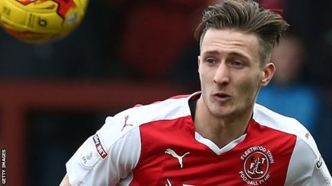 Ben Davies in action for Fleetwood