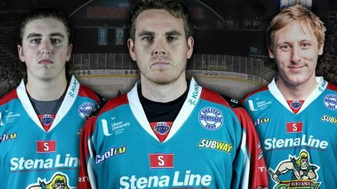 Jackson Whistle, Stephen Murphy and Andrew Dickson are the Giants netminders for 2017/18