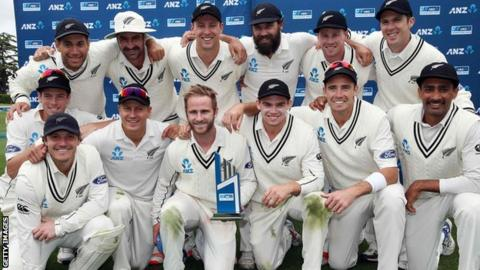 New Zealand celebrate their series win