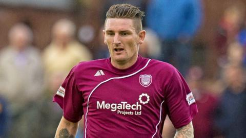 Martin Scott scored a late goal for Arbroath at Berwick Rangers